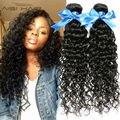 Глубоко Курчавый Бразильский Волос 3 Bundle Предложения Глубоко Вьющиеся Девственные Волосы Бразильский Вьющиеся Волосы Девственные Бразильские Вода Волна 7А Класс