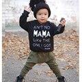 Девушка Новорожденный Одежда Новый 2016 Детская Одежда Мальчика С Длинным Рукавом футболка + Брюки 2 Шт. Младенческой Новорожденных Детская Одежда Костюм дети наборы