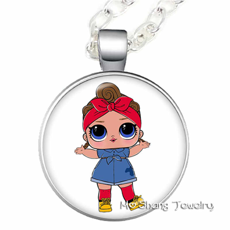 Yanhong Jewelry Doll  2019 Glass Pendant Necklace Display Handheld Baby Surprise Action Children's Birthday Party Gift