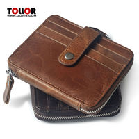 Fashion Vintage Credit Card Holder Men Genuine Leather Card Wallet Cow Leather Card Case Female Business Card & ID Holders
