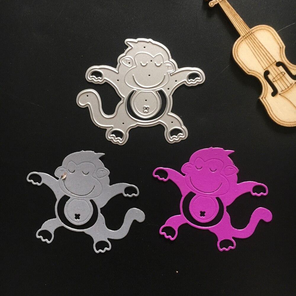 Netter Affe Muster Metall DIY Weihnachten Stanzformen Schablone ...