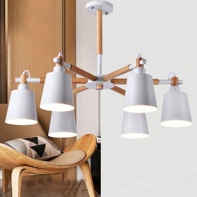 Holz Stil Led Wohnzimmer Decke Lampe Nordic Lighting Moderne