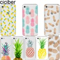 ciciber Summer Fruit Pineapple watermelon silicon soft phone cases cover for iPhone 6 6S 7 8 plus 5S SE X Coque fundas capa
