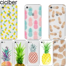 For iPhone7 7plus 5S SE 6S case Summer Fruit Pineapple watermelon banana lemon silicon clear soft TPU case cover for iPhone case