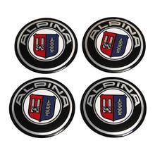 56.5mm Aluminum Car Wheel Center Hub Cap Sticker For BMW ALPINA Logo E46 E39 E36 E90 E60 F10 F30 X5 E53 E34 E30 F20 X5 E70 E38 цена в Москве и Питере