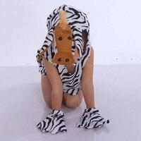 Kids Jongen Meisjes Dier Zebra Cosplay Kleding Hoofddeksel Shirt Carnaval Party kinderen Dag Prestaties Kostuum Nieuwjaar