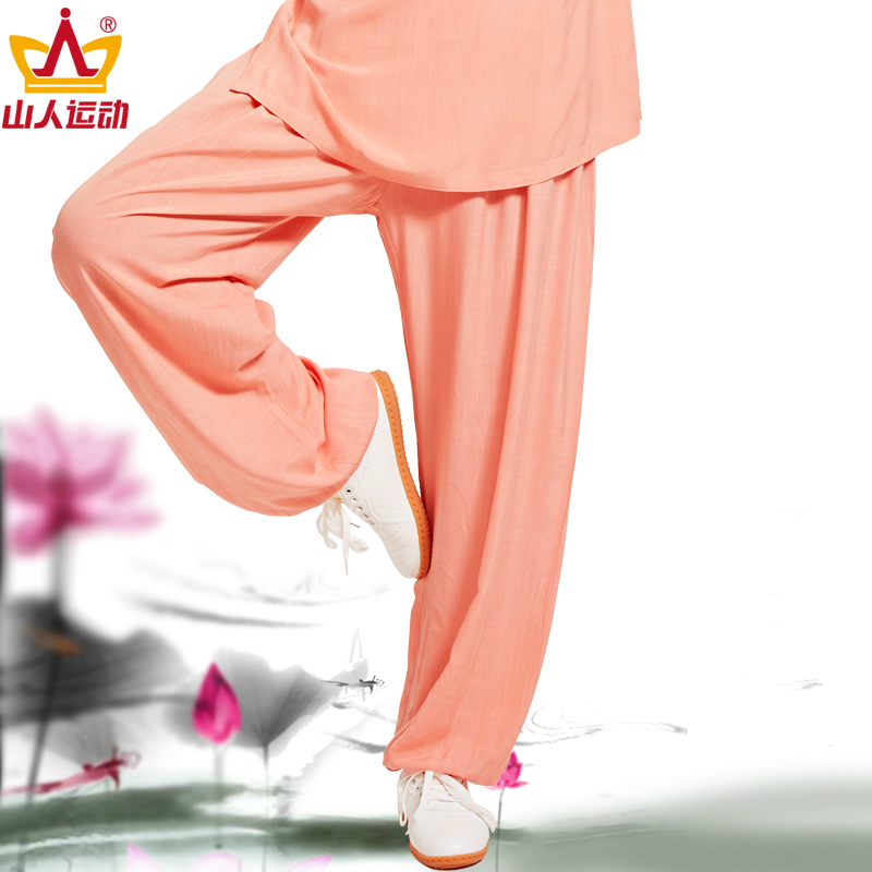 Tai Chi Pants Male Spring And Summer Cotton Quinquagenarian Bloomers You Boxing Clothing Woman Tai Chi Serve Practice Pants
