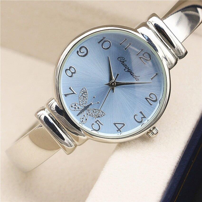 Nya Klockor Kvinnor Klocka Eleganta Ladies Silver Armband Klocka Montre Femme Kvinnors Klocka Quartz Watch Relojes Mujer 2016
