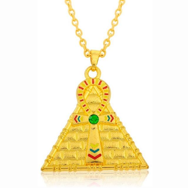 Emaille Religion Kreuz Anhanger Ankh Pyramide Anhanger Schmuck