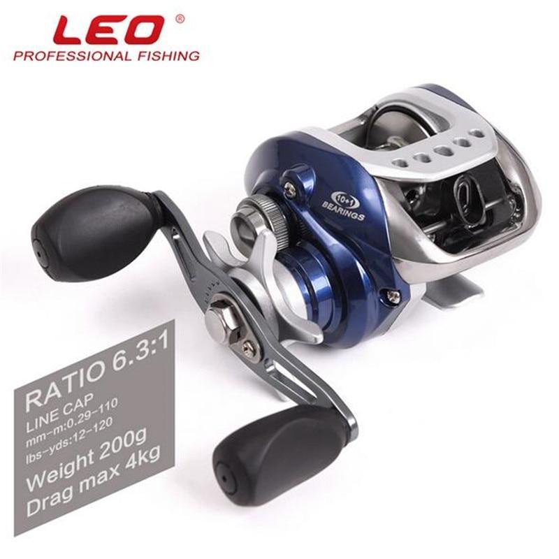 LEO HY Water Drop Wheel 10BB Gear Ratio 6.3:1 Raft Fishing Wheel Precision Fishing Rod Fishing Gear LEO27007