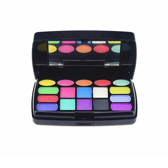 Colorful pop  35 colors Matte eyeshadow lip gloss palette cosmetics shimmer eye shadow Blusher with brush Facial makeup set