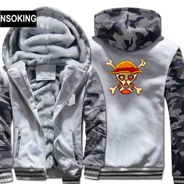 Attack on Titan Hoodies Anime Hooded Coat Thick Zipper Jacket Sweatshirt