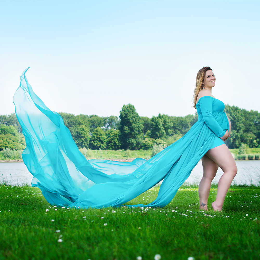 c1dc6b3b72678 ... Soft Chiffon Maternity Dress Split front 3 layer soft chiffon Long  Train MATERNITY PHOTOGRAPHY PROP BABY ...
