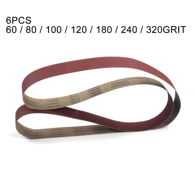 7Pcs 50*2100mm Sanding Belts Grit 60/80/100/120/180/ 240/320 Abrasive Sanding Screen Band for Wood Soft Metal Grinding Polishing image