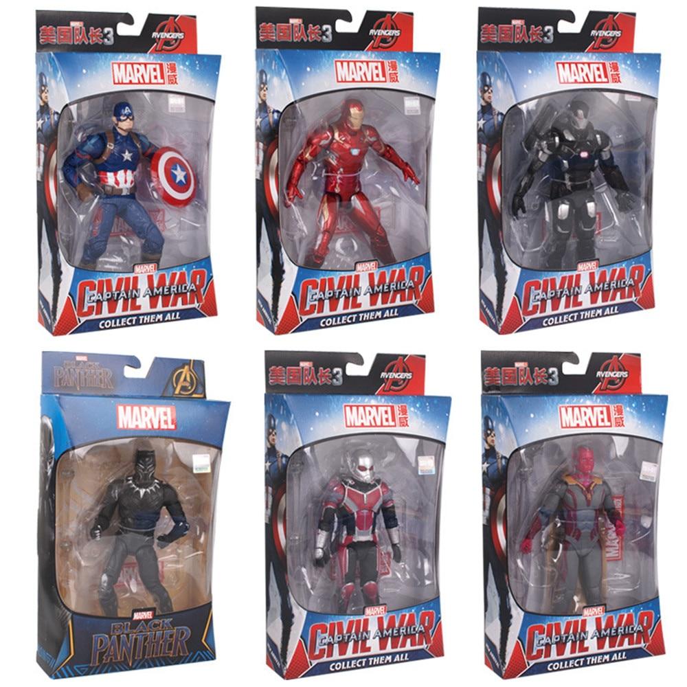 cosplay Toys The Avenger Hero Thor Captain America Spider Man Iron Man PVC Action Figure Bracket model toy Dolls