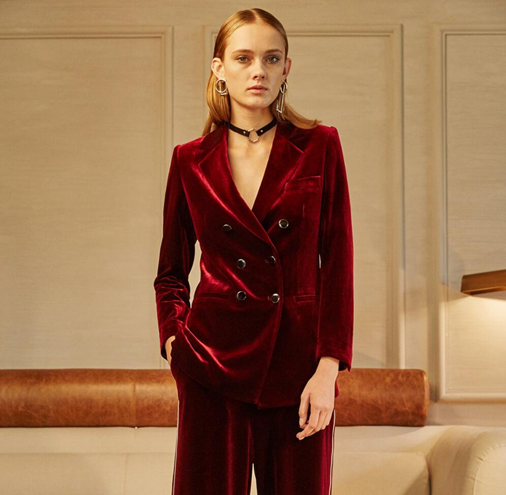 Popular Wine Red Velvet Blazer-Buy Cheap Wine Red Velvet Blazer ...
