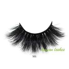 HEXUAN 100% 25mm 5D Mink Eyelashes False Crisscross Natural Fake lashes Makeup Lashes Extension Eyelash