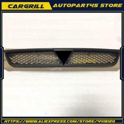 Dla Mitsubishi Lancer i Sportback zderzak przedni czarny kratka 7450A093