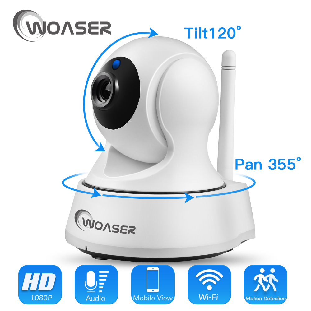 WOASER 1.0MP WIFI IP Camera Wireless IR-Cut Night Vision Two Way Audio HD 720P PTZ CCTV Surveillance Camera P2P Cloud Mobile APP