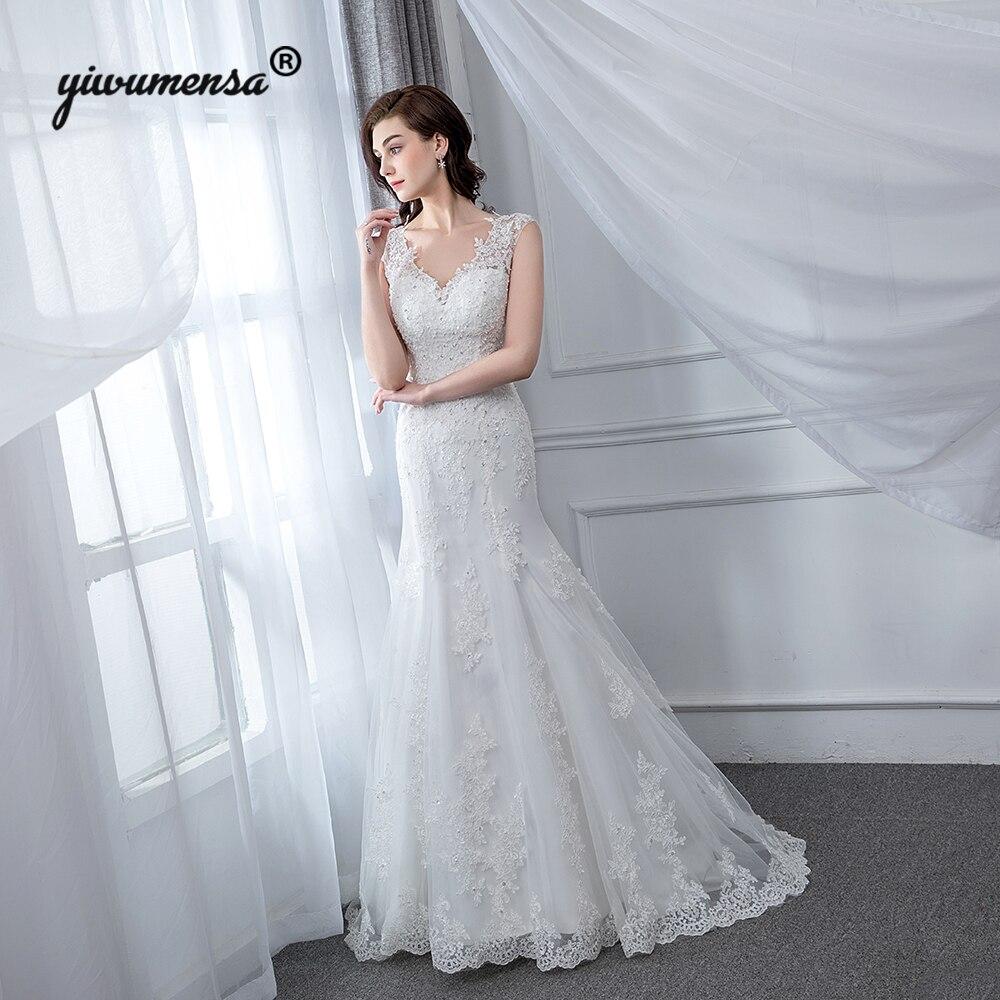 Vestidos De Novia 2018 Cheap Wedding Dress Mermaid Brautkleid Factory Custom Made Wedding Dresses Appliques Lace Bridal Gowns