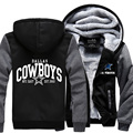 2017 Fashion Cowboys Hooded Sweatshirt Rugbys USA Footballs League Hoodies Cotton Print Men Coats Women Thicken Jacket Outerwear
