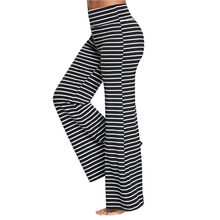 198f096bc0216 (Ship from US) Striped wide leg pants Womens hippie joggers women Trousers  White High Waist Sweatpants Streetwear Pants calca feminina 2018