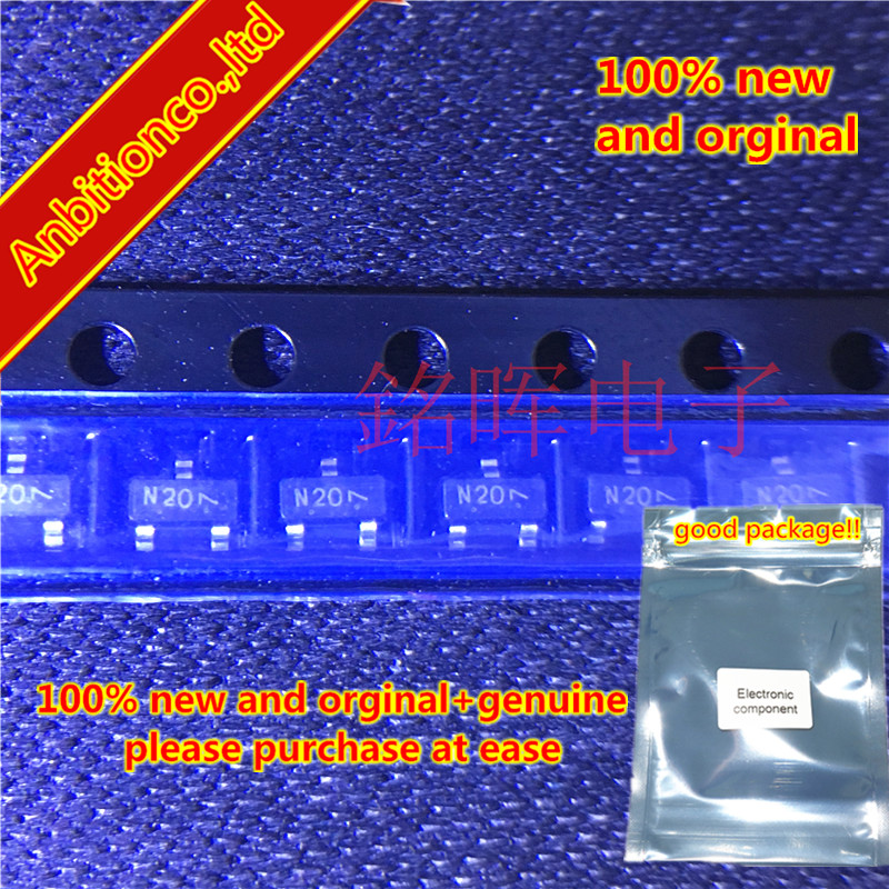 10-20pcs 100% New And Orginal NPN FMMT620 Silk-screen N20 SOT-23 In Stock