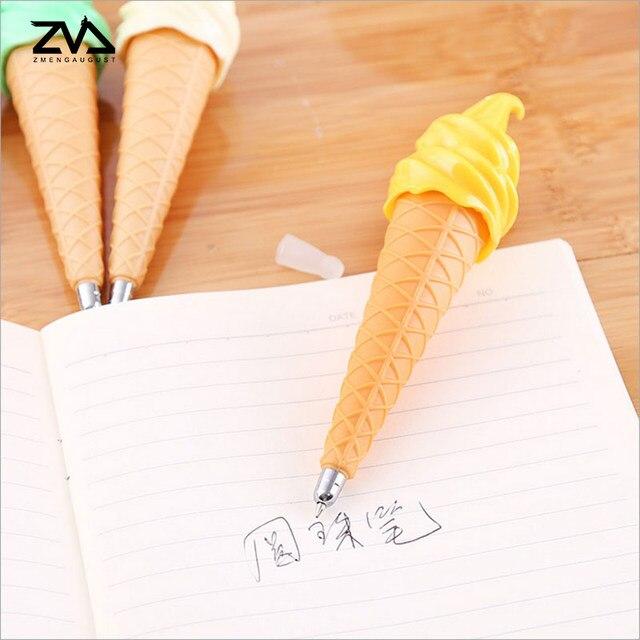 online shop 1 pcs kawaii ice cream shape ballpoint pen for writing