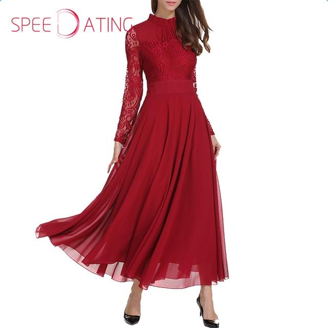 rode maxi jurk