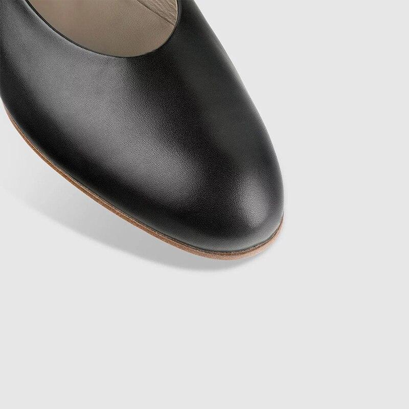 Bas Souple Grande 16 Ty01 Talon Dame Ballet Semelle De Solide Sans Printemps Femmes Cuir Taille Mocassins Rond 2019 Plats Motif Bout Chaussures Bois Noir 15 En wPZXiuOkT