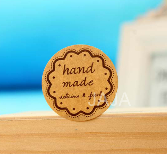 100pcs/lot Hand Made Stickers For Home Made Cakes Muffins Cookies Chocolates Seal Sticker(dd-717)