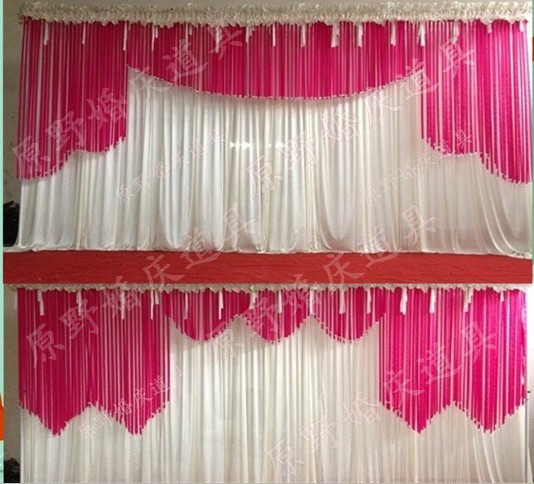 2017 Wedding Props Ribbon Crystal Backdrop Decoration Party Drapery Curtain Stage Decor