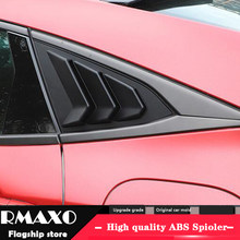 For HONDA Civic 2016-2018 Sedan ABS Rear Door Window shades Louver Frame Window Sill Molding Cover Sticker Trim(China)