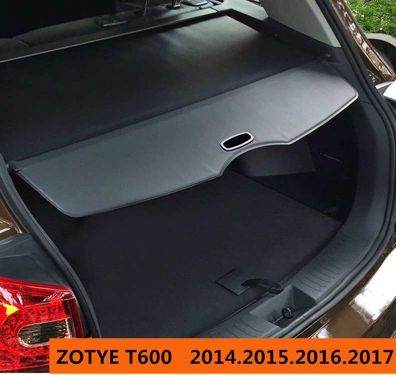 Car Rear Trunk Security Shield Cargo Cover For ZOTYE T600 2014.2015.2016.2017 High Quality Trunk Shade Security Cover for nissan xterra paladin 2002 2017 rear trunk security shield cargo cover high quality car trunk shade security cover