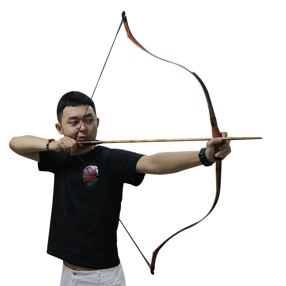 49 pouces tir à l'arc turc traditionnel à la main cheval une pièce en fibre de verre laminé arc classique pour la chasse en plein air tir