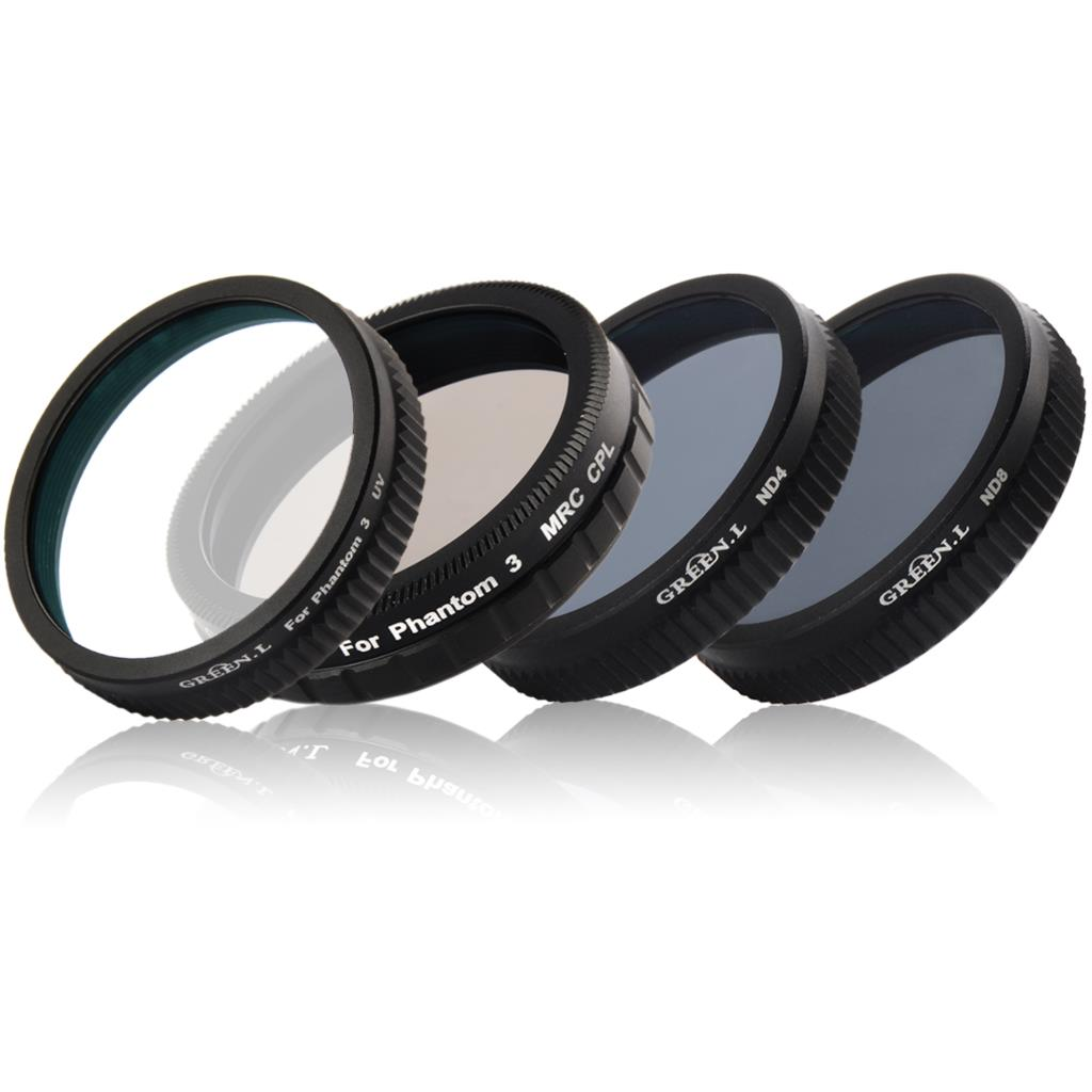 Camera UV+ND4+ND8+CPL Lens Filter Protector for DJI Phantom 3 premium nd8 camera lens filter 46mm