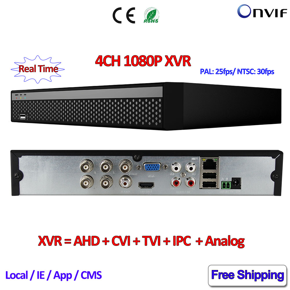 4 Channel NVR P2P 1080P AHDVR CVR TVR DVR 4CH Network DVR ONVIF 2.4 XVR recorder for AHD-H AHD-M 960H D1 2MP IP Camera 8channel dvr 1080p hybrid xvr 16ch for ahd h cvi tvi camera p2p ip recorder onvif network cvr mini nvr h 264 for 2mp ip camera