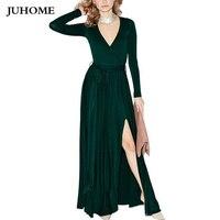 2017 long sleeve autumn dress Winter Dress imported clothing women Especially long split sexy robe femme dress vestido de festa