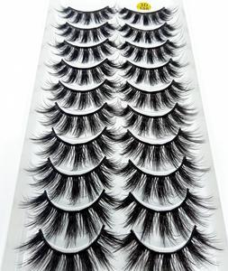 Image 5 - マルチスタイル 10 ペア 3Dソフトミンク毛つけまつげ手作りかすかなふわふわロングまつげナチュラルアイメイクアップツールフェイクまつげ