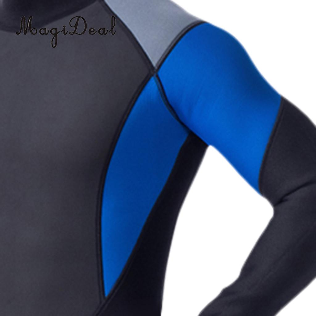01bba0bc9f Mens 3mm Neoprene Full Body Wetsuit Dive Skins Jump SCUBA Diving Snorkeling  Surfing Winter Swimsuit Wet Suit Size M XXL-in Wetsuit from Sports ...