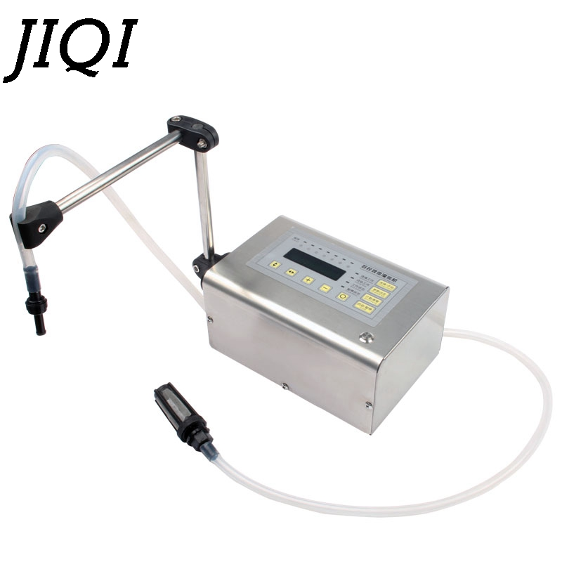 JIQI Digital Control Drink Liquid Filling Machine MINI Electric LCD Display Water Oil Perfume Milk Olive Oil Bottle Filler EU US