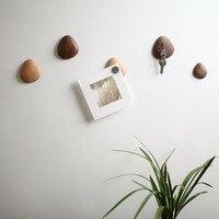 וו מפתח יצירתיים מעץ מלא התלויה משלוח חבטות בכניסה וו דבק חזק רסק עץ מדבקות מקרר