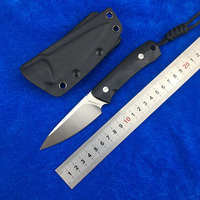 LOVOCOO Nettle fixed D2 blade G10 handle Flipper folding knife Outdoor camping hunting pocket fruit knives EDC tools Survival