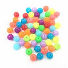 100Pcs Mixed Colourful Spacer Beads Round Acrylic Fashion Jewelry DIY Findings Charms 8mm