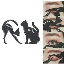 SALE 2Pcs Women Eyes Cat Line Eyeliner Pro Eye Makeup Tools Eyeliner Stencils Template