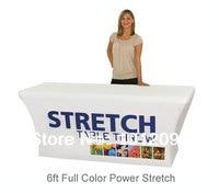 ストレッチ生地テーブルカバーfits 6ftテーブルプリントフルカラー染料サブテーブルクロス