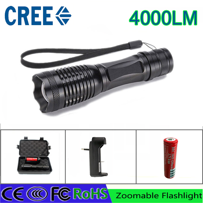 z30 led flashlight torch CREE XML-T6 4000 lumens  adjustable lights or AAA 18650 battery rechargeable torch with car charger cree xml t6 3000lm adjustable led flashlight led torch car charger battery charger 18650 rechargeable battery holster zk10
