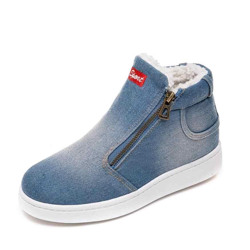 Artı boyutu 35-43 2019 kış platformu çizmeler kadın çizmeler süper sıcak kış rahat ayakkabılar kadın kovboy yarım çizmeler kadınlar için 4 renk