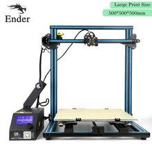 2017 Горячие CR-10 3D-принтеры комплект DIY большой размер печати 500*500*500 мм легко собрать принтер 3D нитей + очаг + инструменты (creality 3D)