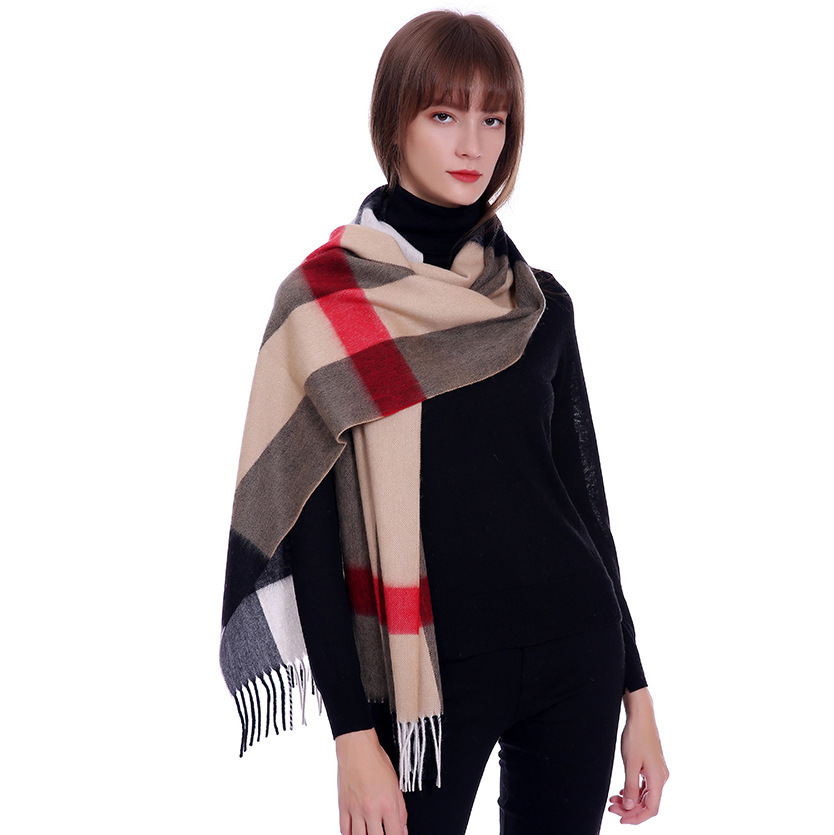 New wool scarves for ladies in autumn and winte